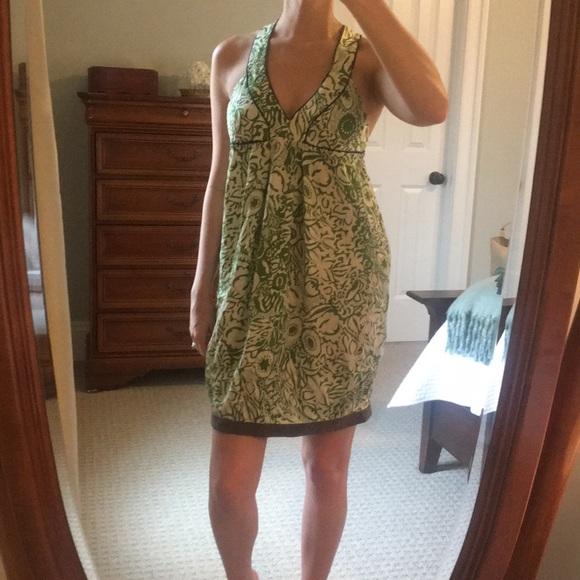 MINT Jodi Arnold Dresses & Skirts - Green and white silk dress by Mint.